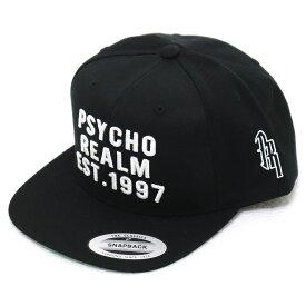 The Psycho Realm - PR97 SNAPBACK BLACK スナップバックキャップ キャップ メンズ フラットバイザー やや深め 芯アリ 黒 【あす楽対応】