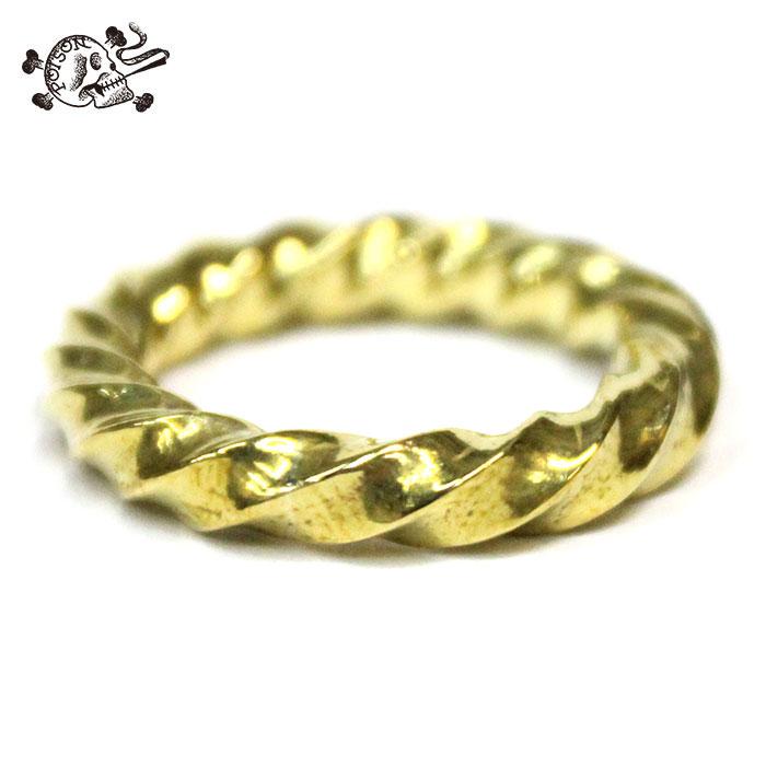 【送料無料 / サイズ交換無料対象商品】 DOZENONE (ダズンワン) Twist Ring Brass ツイストリング 18夏 真鍮 7号/9号/11号/13号 【あす楽対応】