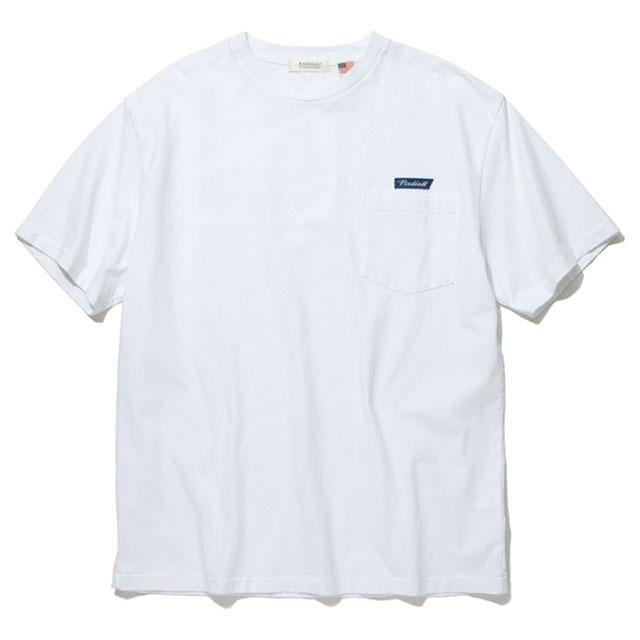 【メール便送料無料】 残りわずか! RADIALL (ラディアル) FLAGS - CREW NECK POCKET T-SHIRT S/S ポケット Tシャツ メンズ ブランド ロゴ 19春夏 USA 綿100% 半袖 クルーネック 白 M/L 【あす楽対応】