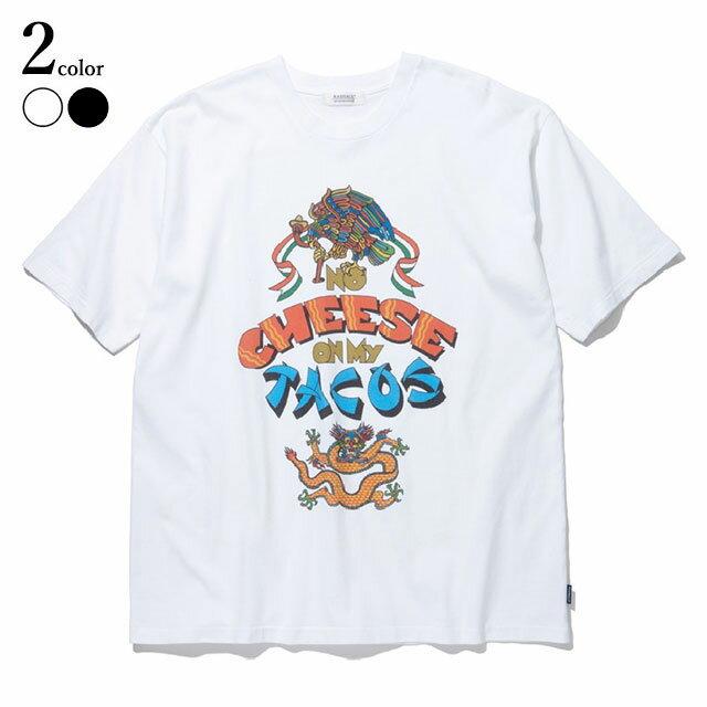 【メール便送料無料】 RADIALL (ラディアル) NO CHEESE - CREW NECK T-SHIRT S/S Tシャツ メンズ ブランド プリント 19春夏 綿100% 半袖 クルーネック 白 M/L 【あす楽対応】