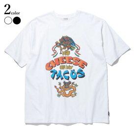 【メール便送料無料】 RADIALL (ラディアル) NO CHEESE - CREW NECK T-SHIRT S/S Tシャツ メンズ ブランド プリント 綿100% 半袖 クルーネック 白 M/L 【あす楽対応】
