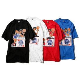 【メール便送料無料】 RULER (ルーラー) PBR BASKETBALL TEE tシャツ メンズ ブランド 綿100% 半袖 白/赤/青/黒 S-XXL