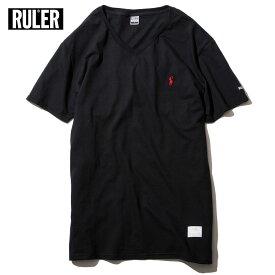 【メール便送料無料】 RULER (ルーラー) D.D. PLAIN V-NECK Vネック Tシャツ メンズ 綿100% 黒/ネイビー/緑/白 M-XXL