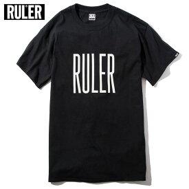 【メール便送料無料】 RULER (ルーラー) EMB TEE Tシャツ ストリート ブランド メンズ 綿100% 半袖 全4色 M-XXL