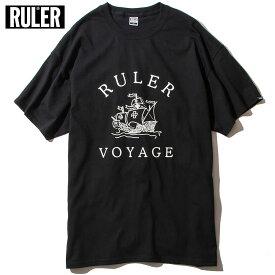 【メール便送料無料】 RULER (ルーラー) VOYAGE TEE Tシャツ メンズ 半袖 綿100% 白/青/緑/黒 M-XXL