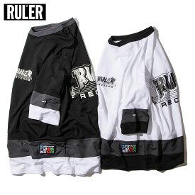 【メール便送料無料】 RULER (ルーラー) RR HOCKEY JERSEY ホッケーTシャツ ジャージ メンズ 5分袖 白/黒 M-XXL 大きいサイズ