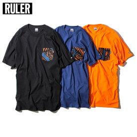 【予約商品 / 送料無料】 RULER (ルーラー) WIY POCKET TEE Tシャツ メンズ 半袖 ストリート ブランド 18夏 綿100% ポケット付き クルーネック オレンジ/ブルー/黒 M-XXL