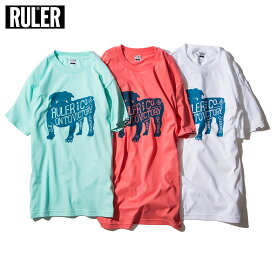 【予約商品 / 送料無料】 RULER (ルーラー) BD TEE Tシャツ メンズ 半袖 ストリート ブランド 18夏 綿100% クルーネック 白/ミント/ピンク M-XXL
