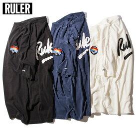 【メール便送料無料】 RULER (ルーラー) CE PIGMENT-DYE TEE ピグメント Tシャツ メンズ 半袖 ストリート ブランド 18夏 綿100% クルーネック 白/ネイビー/黒 S-XXL