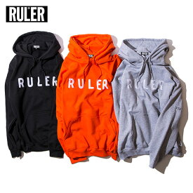 【送料無料 / 代引料込】 RULER (ルーラー) WP SWEAT HOODIE パーカー ブランド メンズ 18冬 スウェット プルオーバー 黒/オレンジ/グレー S-XXL