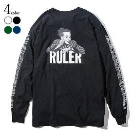 【楽天スーパーSALE】 30%OFF 【メール便送料無料】 RULER (ルーラー) SNCL LONG TEE ロンT ストリート ブランド メンズ 19春 長袖Tシャツ 白/緑/ネイビー/黒 M-XXL 大きいサイズ 【あす楽対応】