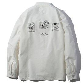 【楽天スーパーSALE】 40%OFF 【送料無料】 RULER (ルーラー) GF CHAMBRAY SHIRTS シャンブレーシャツ ブランド シャツ メンズ 19春 日本製 T/C シャンブレー 長袖 白 M-XL 【あす楽対応】