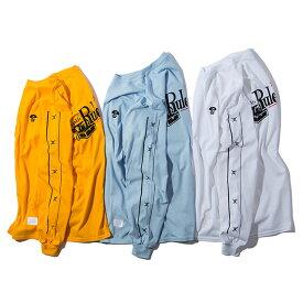 【メール便送料無料】 RULER (ルーラー) ISLE LONG TEE ロンT ストリート ブランド メンズ 19春 長袖Tシャツ トレジャー・アイル 白/青/ゴールド M-XL 大きいサイズ 【あす楽対応】