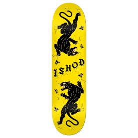"REAL (リアル) ISHOD WAIR CAT SCRATCH TWIN TAIL YELLOW Skateboard Deck 8.0"" × 31.5"" スケートボード スケボー デッキ ブランド 8インチ 【送料無料 / デッキテープ無料】 【あす楽対応】"