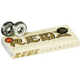 BONES BEARING (ボーンズベアリング) CERAMIC SUPER REDS SKATEBOARD BEARINGS 8 PACK ボーンズ セラミック スーパー レッズ スケートボード スケボー ベアリング 【送料無料】 【あす楽対応】