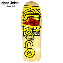 DEAR SKATING / John Lucero 1988 Bootlegged Kill Rocco Deckスケートボード Black Label Jo...