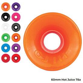 【送料無料】 OJ Wheels (オージェイ ウィール) Hot Juice 60mm 78a スケートボード ウィール ホットジュース クルーザーウィール ソフトウィール 全12色
