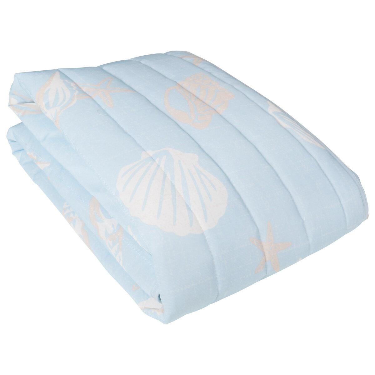 接触冷感 敷きパッド マリン柄 シングル 洗濯出来る 100x205cm ブルー / 敷パッド ベットパット 敷きパット マリン 青 海 おしゃれ かわいい 使いやすい ひんやり お昼寝 夏 夏物 快眠 激安 送料無料
