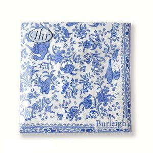 バーレイ 英国食器 Burleigh リーガルピーコック柄 ペーパーナプキン スクエアタイプ デコパージュ/かわいい/花柄/鳥