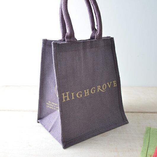 イギリス ハイグローブ社 ジュート麻 ショッピングバッグ スモールサイズ 英国王室御用達/おしゃれな買い物バッグ/エコバッグ