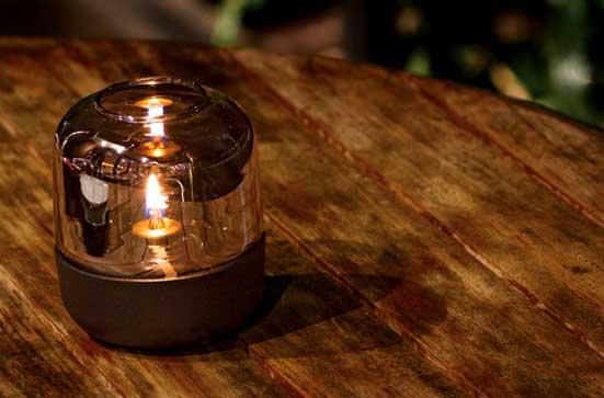 HURRICANE デザインオイルランプ(ミニオイルタンク付) 北欧/オイルランプ/間接照明/贈り物/庭/モダン