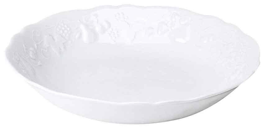 APILCO アピルコ カリフォルニア サラダボウル【大】径28cm フランス製/パリ/白/南仏/洋食器/陶器