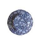 イギリス食器 バーレイ社 ブルーキャリコ プレート小 φ19cm お皿/花柄/料理/おしゃれ/かわいい