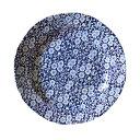 イギリス食器 バーレイ社 ブルーキャリコ プレート大 φ26.5cm お皿/花柄/料理/おしゃれ/かわいい