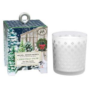 ミッシェルデザインワークス アロマキャンドル レギュラーサイズ クリスマススノー(香り:パインフォレスト  植物油 ハンドメイド ギフト プレゼント 贈り物 リラクゼーション Xmas