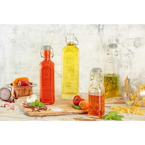 KILNERキルナー クリップボトル 1L 保存瓶 調味料 ソーダガラス インテリア オリーブオイル 自家製オイル ミルク シロップ 酒