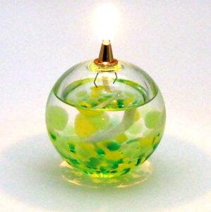 津軽びいどろ×オイルランプ 若葉 青森県指定伝統工芸品/クラフトガラス/ブライダル