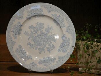イギリス食器 バーレイ社 ブルーアジアティックフェザンツ プレート 22cm お皿/花柄/料理/おしゃれ/かわいい