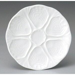 *APILCOアピルコ Naraナラ オイスター プレート24.5cm フランス/オードブル/白/陶器/ボジョレーヌーボー