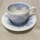 イギリス食器 バーレイ社 ブルーアジアティックフェザンツ エスプレッソカップ&ソーサー 花柄/おしゃれ/かわいい/おすすめ/ギフトセット