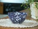 イギリス食器 バーレイ社 ブルーキャリコ シュガーボウル 小 花柄/カフェオレボウル/おしゃれ/かわいい/おすすめ
