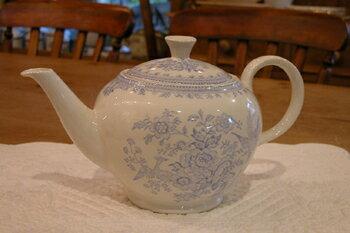 イギリス食器 バーレイ社 ブルーアジアティックフェザンツ ティーポット 大 花柄/おしゃれ/陶器/おすすめ/かわいい