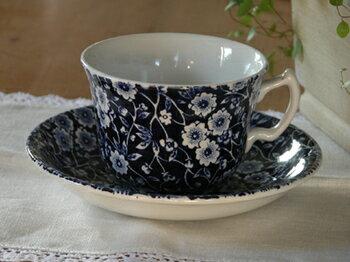 イギリス食器 バーレイ社 ブルーキャリコ ティーカップ&ソーサー 花柄/おしゃれ/かわいい/おすすめ/ギフトセット