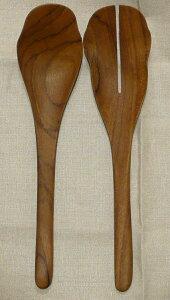 ChaBatree チャバツリー Romaine サラダサーバー スプーン&&フォークセット L28cm 木製カトラリー/おすすめ/おしゃれ/ギフト/人気