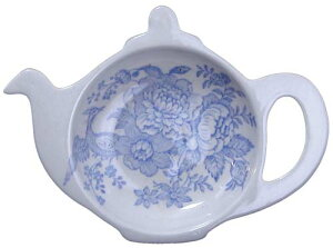 バーレイ 英国食器 Burleigh ブルーアジアティックフェザンツ ティーポットトレイ ギフトBOXなし イギリス/ティーバッグトレー//紅茶