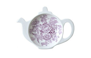 バーレイ 英国食器 Burleigh プラムアジアティックフェザンツ ティーポットトレイ ギフトBOXなし イギリス/ティーバッグトレー/紅茶