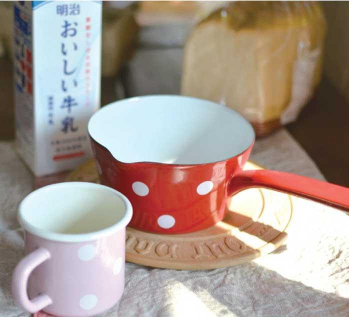 オールドファームハウス ポルカドットシリーズ ミルクパン 水玉/カントリーキッチン/THE OLDEFARMHOUSE