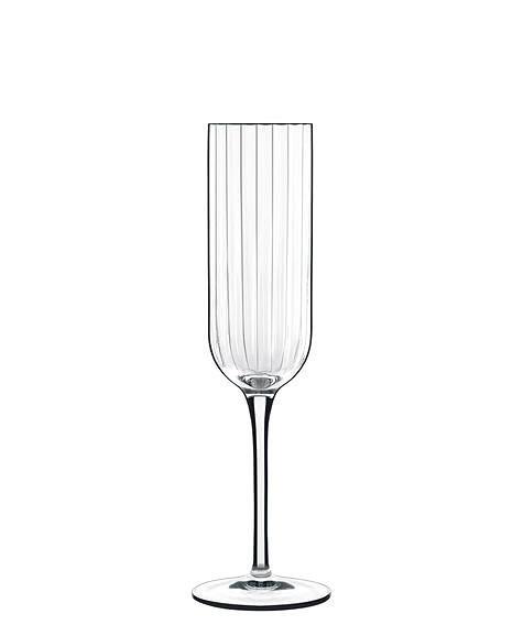 Luigi Bormioli ルイジボルミオリ社 BACH フルートシャンパングラス 4脚セット ワイングラス/赤ワイン/レトロ/シック/エレガント/イタリア製