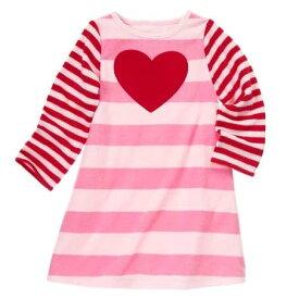 ジンボリー GYMBOREE 長袖 パジャマ フリース ワンピース ピンク 赤 ボーダー 女の子用 100 110 120 130 140 150