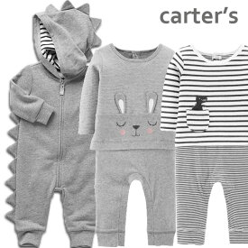 カーターズ カバーオール 長袖 Carter's 正規品 足なし 綿 スウェット 恐竜 着ぐるみ風 セパレート風 男の子 女の子 3m6m9m12m18m24m