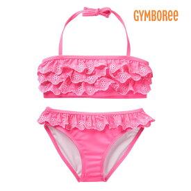 ジンボリー GYMBOREE 水着 ビキニ スイム 女の子用 UPF50+ ラッフルフリルレース 45678910才