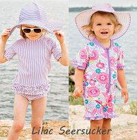 ラッフルバッツRuffleButts帽子つば広【6か月〜10才】ベビー&キッズ水着と同素材のツバ広帽子UPF50+UVカット紫外線防止にサンハット女の子リバーシブルも