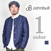 JOHNBULL(ジョンブル)コットンリネンノーカラージャケット12469【送料無料・代引き手数料無料】
