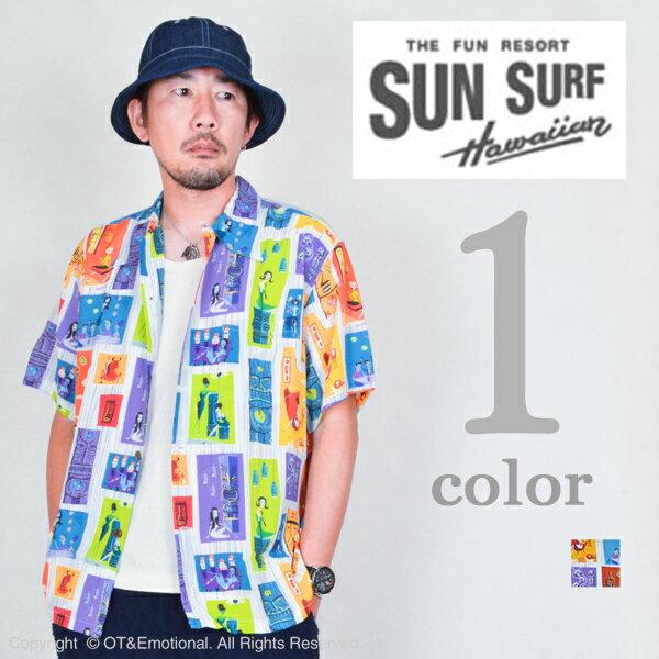 """サンサーフ(SUN SURF)アロハシャツ KEONI OF HAWAII """"TIKI PARADISE""""bySHAG SS37654"""