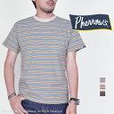フェローズ(Pherrow's)ポケ付きマルチボーダーTシャツ PBPT1