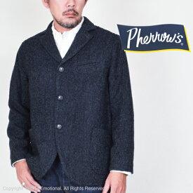 フェローズ(Pherrow's)ウールヘリンボーン ワークジャケット PWSC1-HB